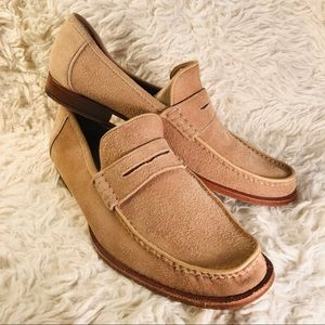 💗Bruno Magli suede and leather penny loafer…